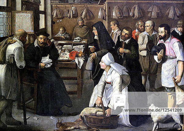 The Sale of Nature  c1584-1637. Artist: Pieter Brueghel the Younger