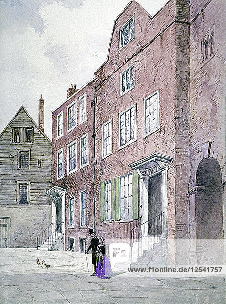 View of the Vicar Generals Office  Bell Yard  Knightrider Street  City of London  1841. Artist: Frederick Napoleon Shepherd