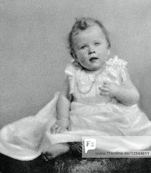 Princess Elizabeth in 1926  when she was a few months old  (1937). Artist: Unknown