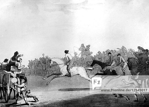 The High Mettled Racer  1789.Artist: Thomas Rowlandson