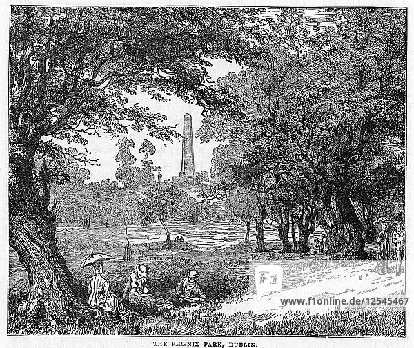 The Phoenix Park  Dublin  19th century. Artist: Unknown