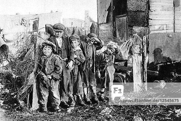 A group of street urchins  Paris  1931. Artist: Ernest Flammarion