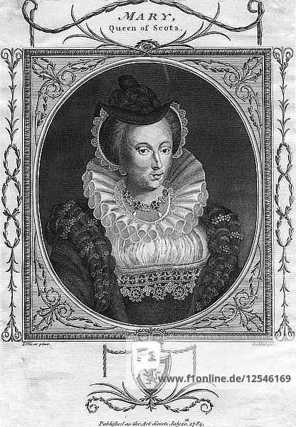 Mary  Queen of Scots  (1784).Artist: Goldar