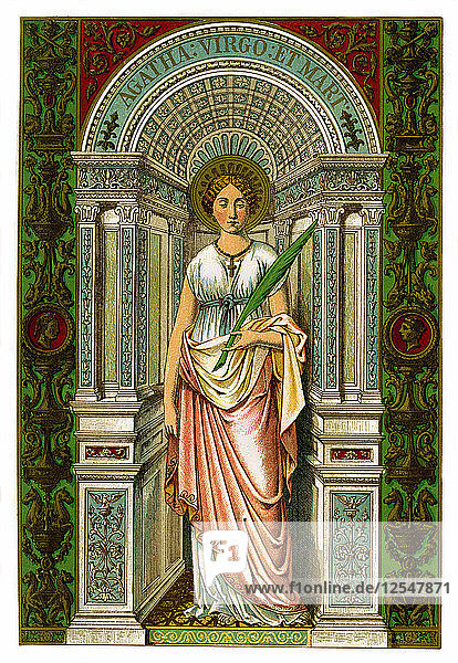 St Agatha  virgin and martyr  1886. Artist: Unknown