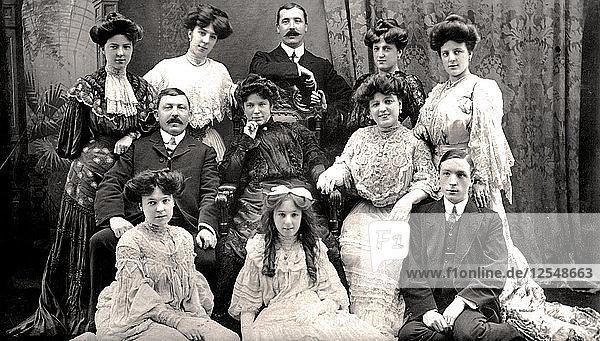 The Lloyd Family  early 20th century.Artist: Rotary Photo