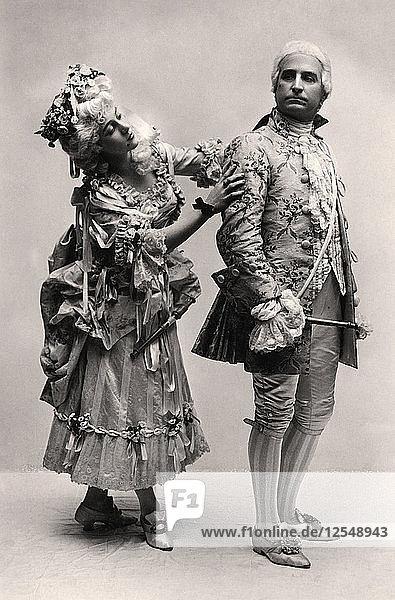 Clara Dow and Henry Lytton in Iolanthe  1907. Artist: Unknown