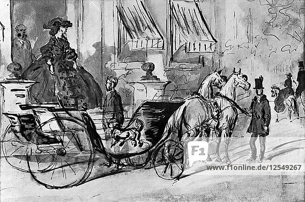 Going for a Drive  19th century  (1930).Artist: Constantin Guys