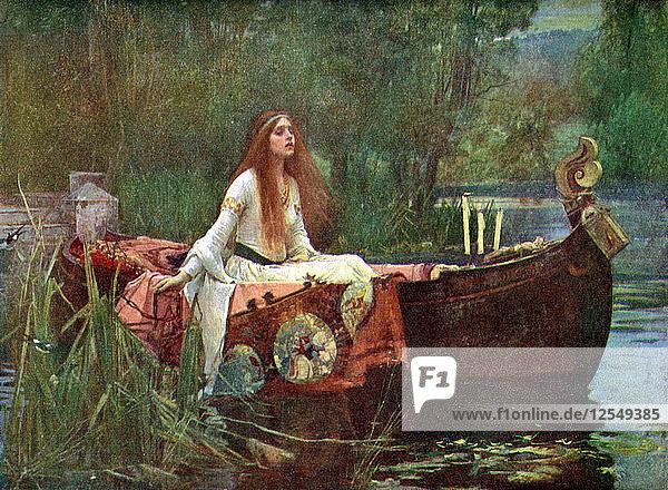 The Lady of Shalott  1888 (1923).Artist: John William Waterhouse