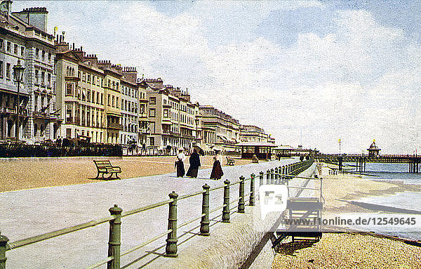St Leonards  West Marina  from the pier  c1900s-c1920s. Artist: Unknown