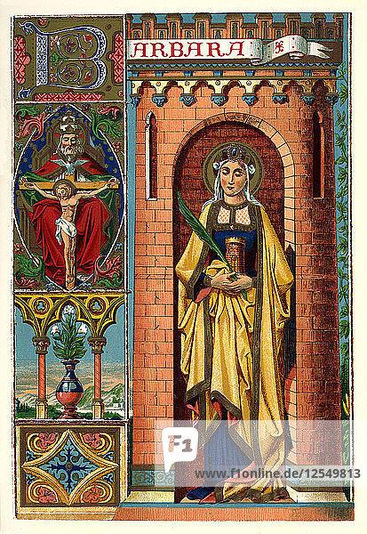 St Barbara  1886. Artist: Unknown
