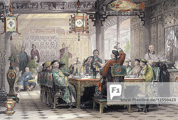 Dinner Party at a Mandarins House  China  1843. Artist: G Patterson
