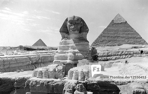 The Great Sphinx of Giza  Egypt  May 1949. Artist: Unknown