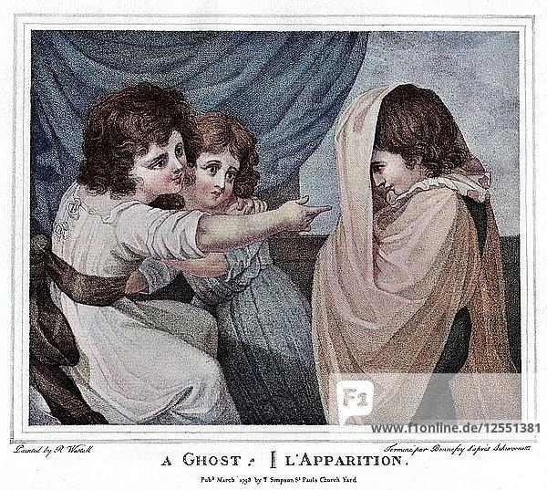 A Ghost  1905.Artist: Henri-Arthur Bonnefoy