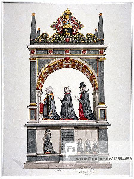 Monument to Alderman Richard Humble and family  St Saviours Church  Southwark  London  c1700. Artist: Anon