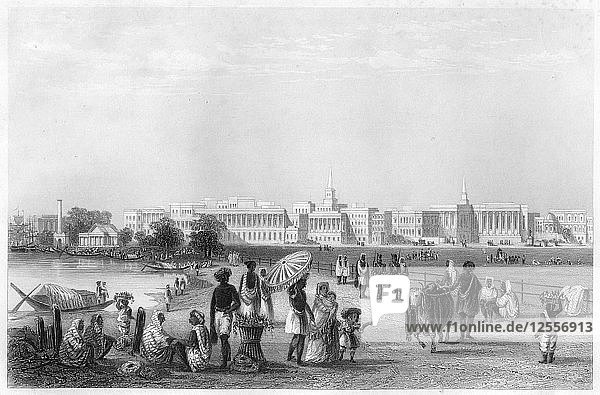 View of Calcutta from the Esplanade  c1860. Artist: Unknown