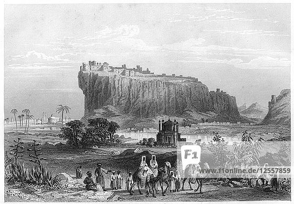 The hill fortress of Gwalior  India  c1860. Artist: Unknown