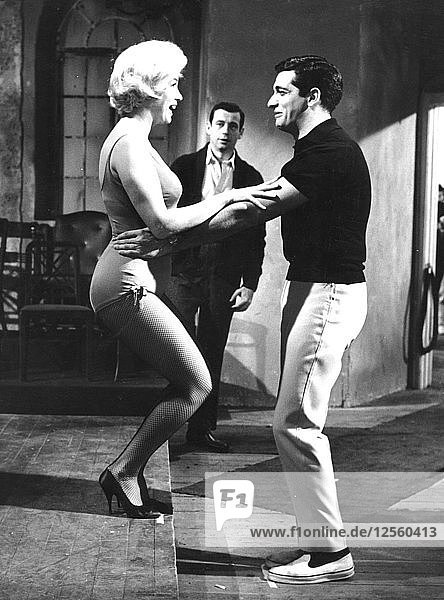 Marilyn Monroe and Yves Montand starring in Lets Make Love  1960. Artist: Unknown