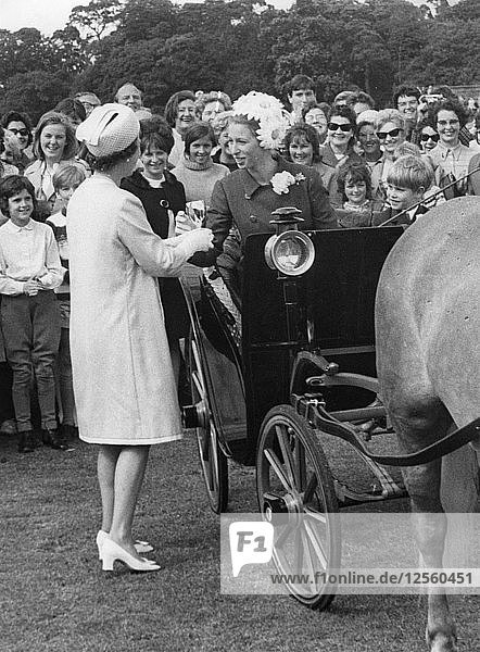 Princess Anne wins a cup in the pony and trap rally at Smiths Lawn  Windsor  June 1969. Artist: Unknown