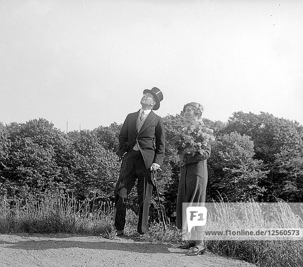 Crown Prince Gustav Adolf and Crown Princess Louise visit Landskrona  Sweden  1932. Artist: Unknown