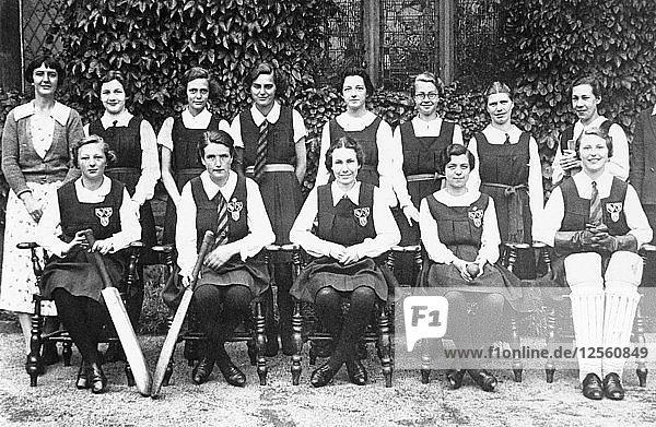 Netherthorpe Grammar School ladies cricket team  Derbyshire  c1935-1936. Artist: Unknown