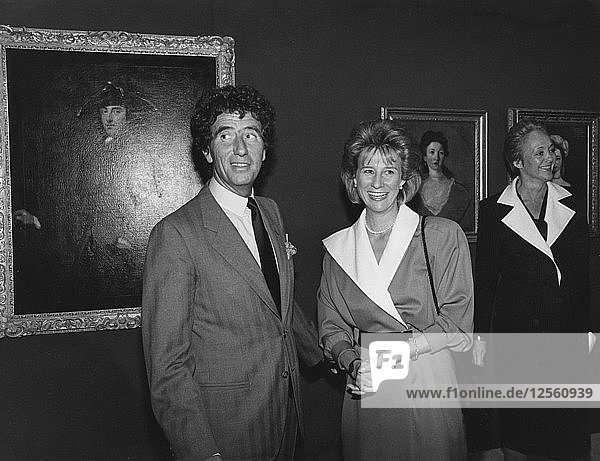 The Duchess of Gloucester and Jack Lang  Grand Palais Museum  Paris  c1981-1986. Artist: Unknown