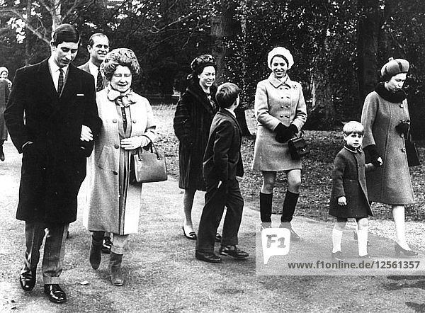 The Royal Family at Sandringham Castle  Norfolk  c1970(?). Artist: Unknown