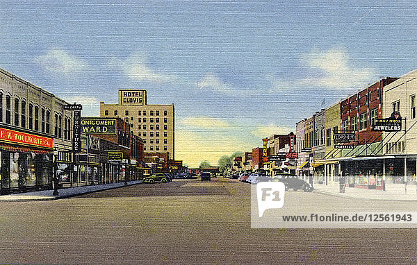 Street View  Clovis  New Mexico  USA  1940. Artist: Unknown