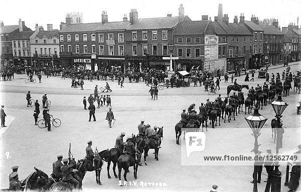 Visit of the Prince of Wales  Market Place  Retford  Nottinghamshire  1923. Artist: Unknown