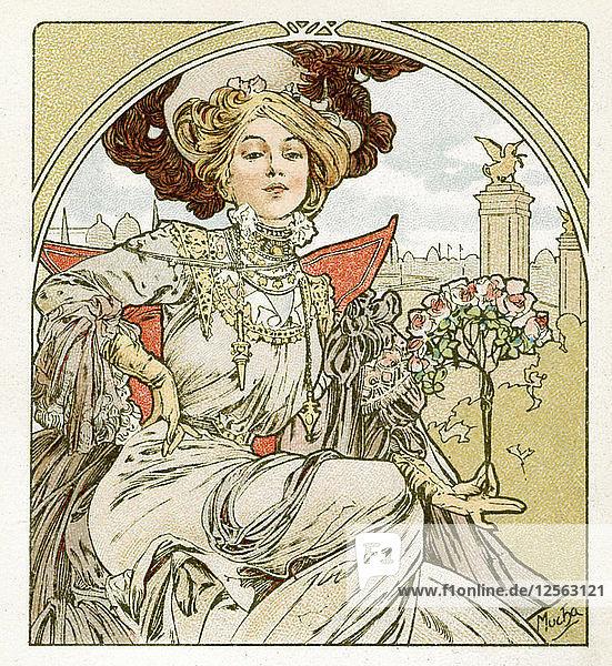 Paris Exposition  1900. Artist: Alphonse Mucha