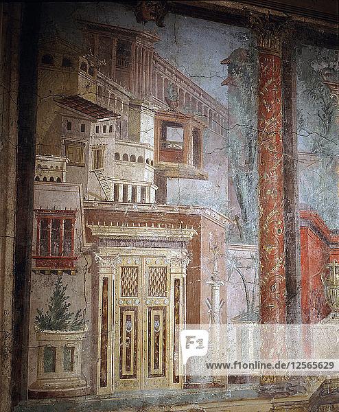 Fresco from a Roman villa at Boscoreale  near Pompeii  Italy. Artist: Werner Forman