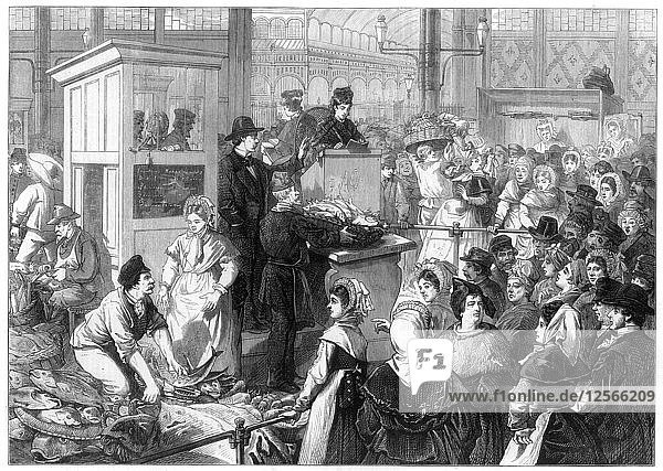 The Fish Market  the Lenten season in Paris  1875. Artist: Unknown