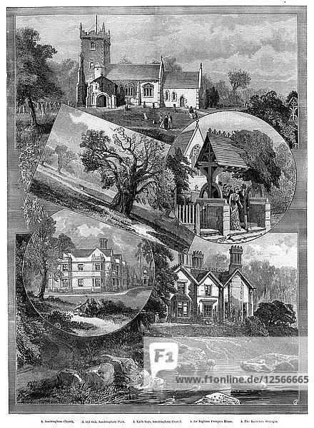 Views of Sandringham  Norfolk  1887. Artist: Unknown