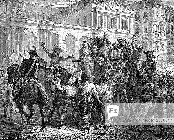 The Duke of Orleans on the way to the guillotine  Paris  6th November 1793 (1882-1884). Artist: Unknown