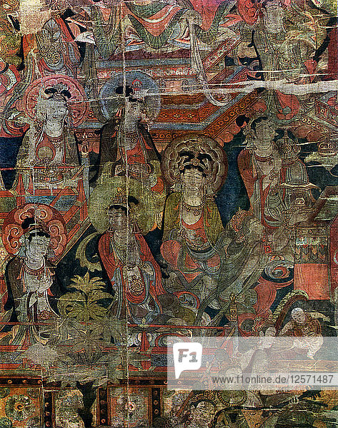 Detail of a picture of Paradise  Chinese  Tang dynasty  618-907 (1925). Artist: Unknown