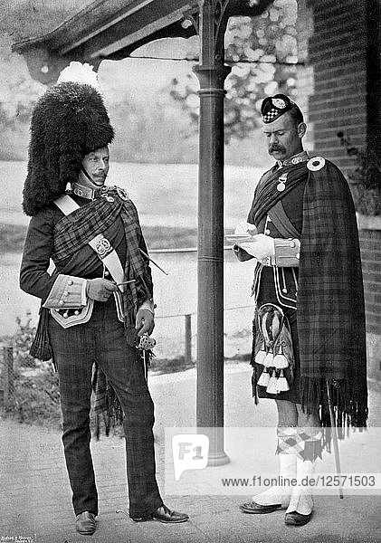 The Colonel of the 1st Battalion Argyll and Sutherland Highlanders  1896. Artist: Gregory & Co