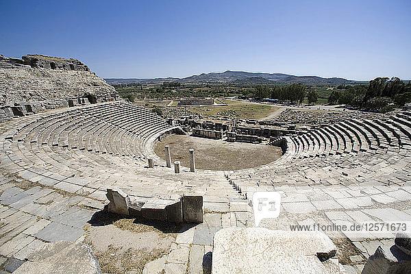 The Theatre at Miletus  Turkey. Artist: Samuel Magal