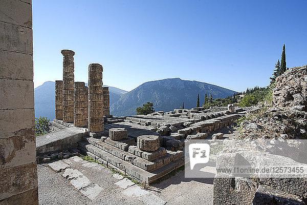The Temple of Apollo  Delphi  Greece. Artist: Samuel Magal