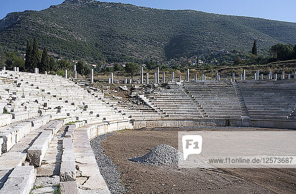 The stadium at Messene  Greece. Artist: Samuel Magal