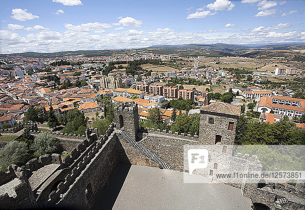 View of the city from the castle  Braganca  Portugal  2009. Artist: Samuel Magal