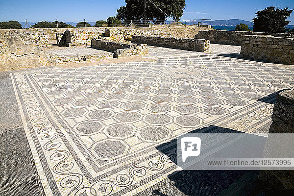 The mosaic floor of House I in the Roman city of Emporiae  Empuries  Spain  2007. Artist: Samuel Magal