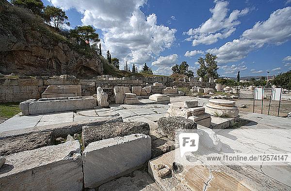 The Lesser Propylaea  Eleusis  Greece. Artist: Samuel Magal