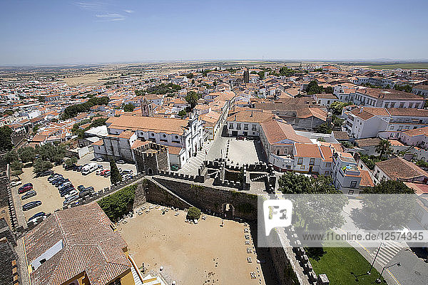 View of the city from the castle roof  Beja  Portugal  2009. Artist: Samuel Magal