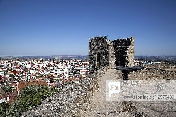View over the city from the castle  Castelo Branco  Portugal  2009. Artist: Samuel Magal