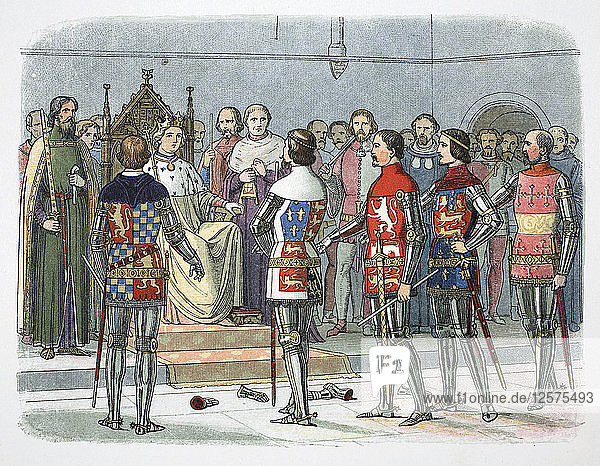 Nobles before King Richard II  Westminster  1387 (1864). Artist: James William Edmund Doyle