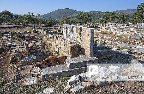 A grave monument in Messene  Greece. Artist: Samuel Magal