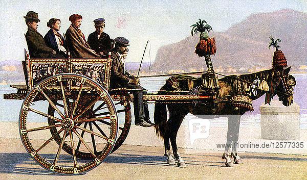 Cart,  Palermo,  Sicily,  c1923. Artist: Unknown