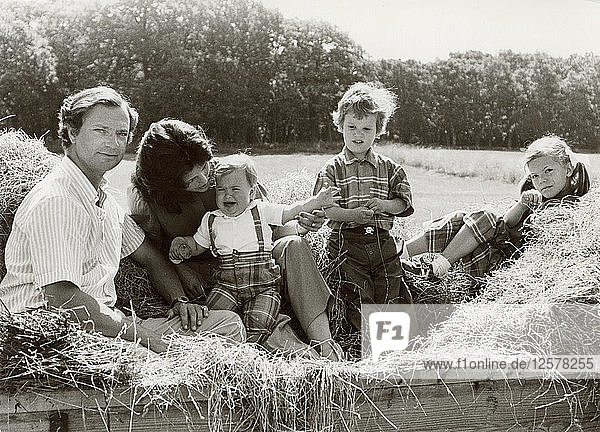 The Royal Family of Sweden on holiday  Öland  Sweden  1983. Artist: Unknown