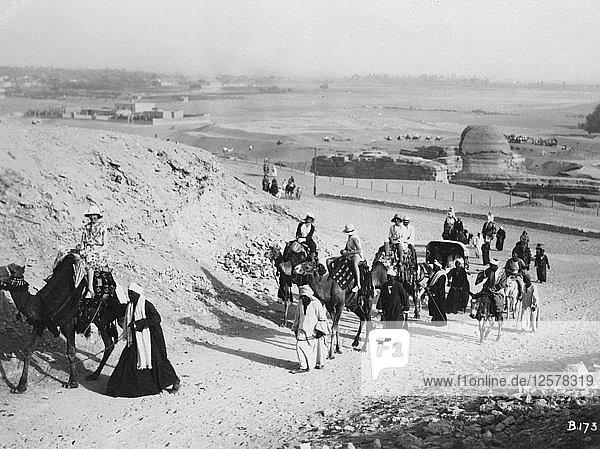 Camel tour  Giza  Egypt  c1920s-c1930s(?). Artist: Unknown