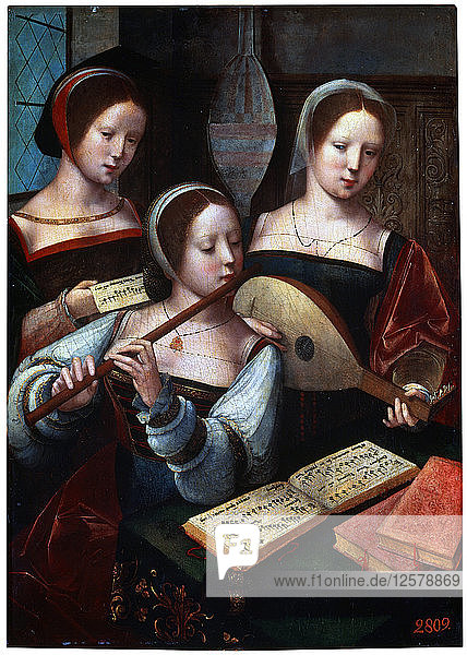 Musicians  1530s-1540s. Artist: Unknown Old Master