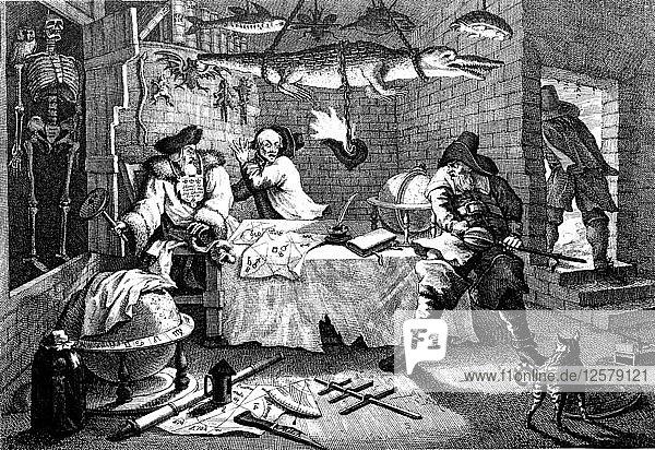 Illustration from the poem Hudibras  by Samuel Butler  1726. Artist: William Hogarth
